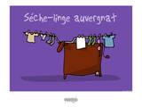 I Lov'ergne - Sèche-linge auvergnat Posters por Sylvain Bichicchi