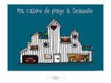 Heula. Cabine de plage à Deauville Affiches par Sylvain Bichicchi