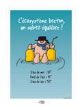 Oc'h oc'h. - Écosystème breton Pósters por Sylvain Bichicchi