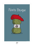 Pays B. - Pelote basque Posters por Sylvain Bichicchi