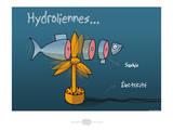 Heula. Hydroliennes normandes Pósters por Sylvain Bichicchi