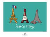 Coq-Ô-Rico -France trilogy Posters por Sylvain Bichicchi