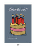 Pays B. - Bon anniversaire basque Posters par Sylvain Bichicchi