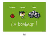 Sud-Mer-Sud-Terre - Le bonheur provençal Posters por Sylvain Bichicchi