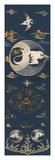 Embroidered Silk Chair Panel I, with White Cranes Premium gicléedruk van  Oriental School