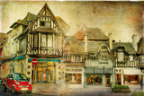 Old Normandy - Retro Styled Picture Photographic Print by  Maugli-l