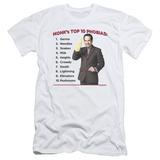 Monk - Top 10 Phobias (slim fit) T-Shirt