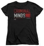 Womens: Criminal Minds - Title Card T-Shirt