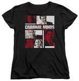 Womens: Criminal Minds - Character Boxes T-shirts