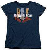 Womens: My Three Sons - Shoes Logo T-shirts