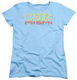 Womens: CSI Miami - Logo Distressed Shirts