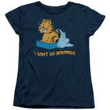 Womens: Garfield - I Don't Do Mornings T-Shirt