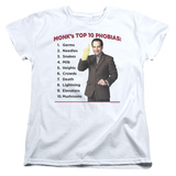 Womens: Monk - Top 10 Phobias T-shirts