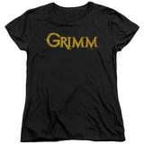 Womens: Grimm - Gold Logo Shirt