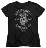 Womens: Sons Of Anarchy - Fabric Paint T-Shirt