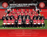 Manchester United Team 14/15 Pôsters