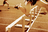 Hurdle Race Photographic Print by  soupstock