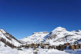 Mountain Ski Resort with Snow in Winter, Val-D'isere, Alps, France Photographic Print by  haveseen