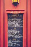 Retro Paris Restaurant Menu Reproduction photographique par Mr Doomits