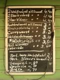 German Menu Board Reproduction photographique par Mr Doomits