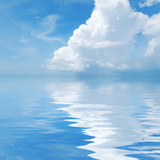 Beautiful Cloud with Reflection in Water. Photographic Print by  haveseen
