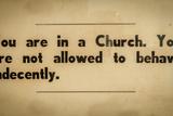 Vintage Church Rules Sign Reproduction photographique par Mr Doomits