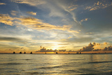 Beautiful Sunset at Boracay, Philippines Photographic Print by  haveseen