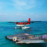 Red Seaplane at Maldives Photographic Print by  haveseen