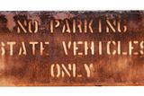 School Parking Sign Reproduction photographique par Mr Doomits
