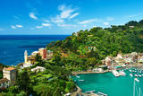 Portofino Village on Ligurian Coast in Italy Photographic Print by  haveseen
