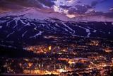 Breckenridge Winter Sunset Reproduction photographique par  duallogic