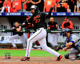 Delmon Young three run double Game 2 of the 2014 American League Division Series Photo