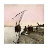 The Nile (Egypt), Dahabieh Photographic Print by Levy et Fils, Leon