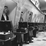 Listening Booths Impressão fotográfica por John Drysdale