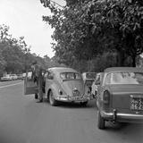 Two Car Drivers Arguing Fotografisk trykk av Marisa Rastellini