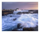 Waves crashing on rocky shore, Wawaloli Beach, Big Island, Hawaii Plakat av Tim Fitzharris