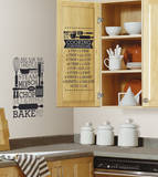 Cooking Conversions Wall Decal Autocollant mural
