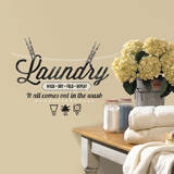 Laundry Quote Wall Decal Veggoverføringsbilde