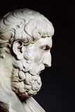 Bust Sculpture of Epicurus Fotografisk trykk