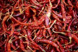Red Chili Peppers (Ocotlan Market, Oaxaca, Mexico) Photographic Print by Marco Cristofori