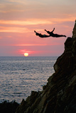 Acapulco Cliff Divers at Sunset Photographic Print by Thom Lang