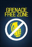 Jersey Shore Grenade Free Zone Blue Mesh TV Poster Print Kunstdruck