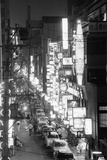 Overview of Downtown Nightlife in Tokyo Fotografisk tryk