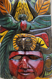 Indigenous Mask Carving Reproduction photographique par Alison Wright