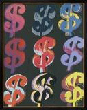 $9, c.1982 (on black) Prints by Andy Warhol