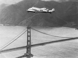 Amelia Earhart's Record Breaking Hop over Golden Gate Bridge Photographic Print