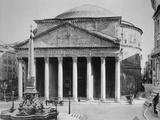 Pantheon and Obelisk Fountain in Piazza Della Rotonda Photographic Print by Philip Gendreau