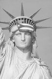 Puerto Rican Flag on Statue of Liberty Fotografie-Druck