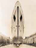 Bow of Queen Mary in Drydock Fotografie-Druck