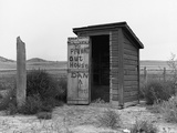 Private Outhouse Photographic Print by Arthur Rothstein